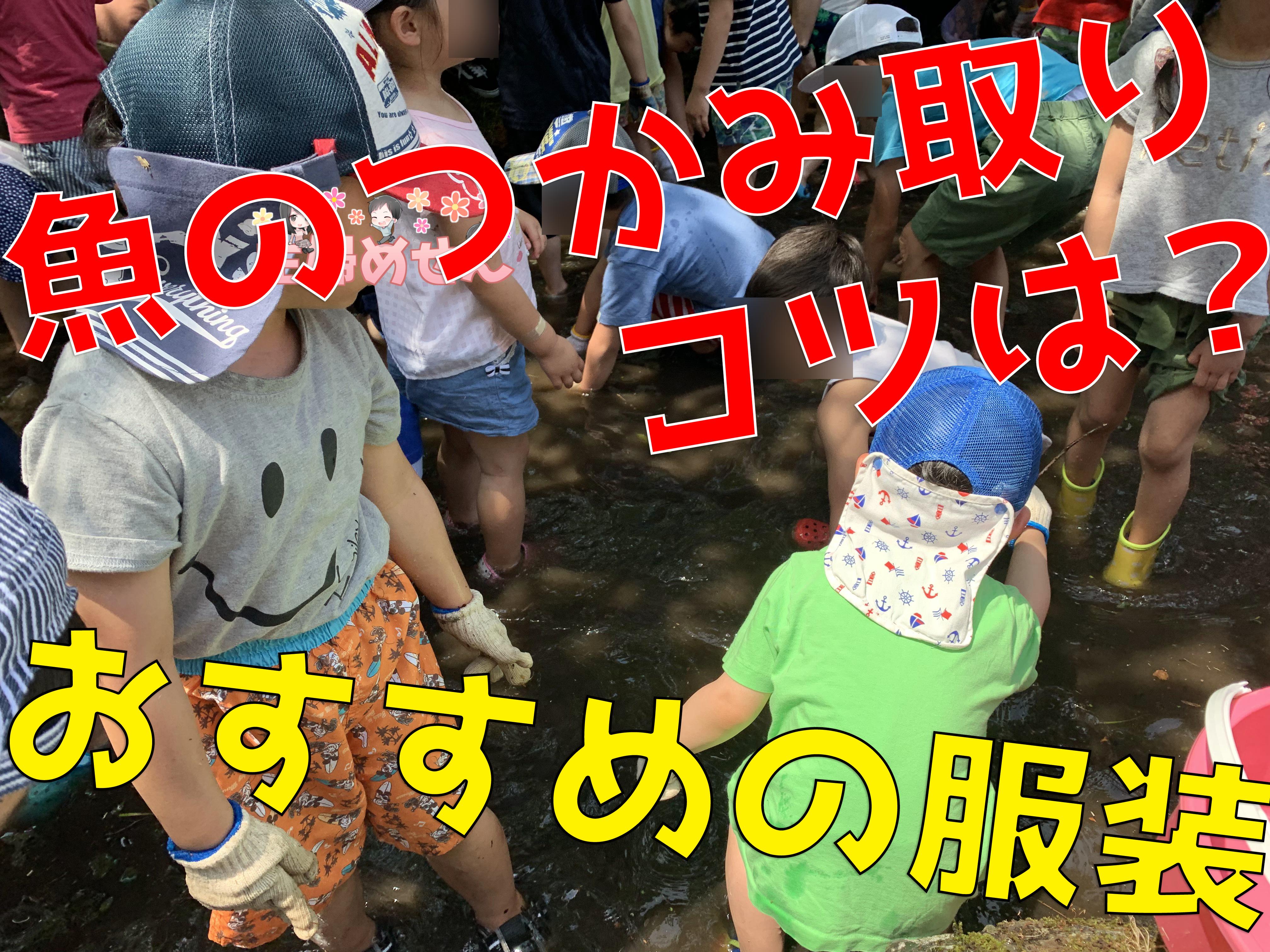 魚のつかみ取り:大人も子供もできるコツ&おすすめの服装アイテムは?