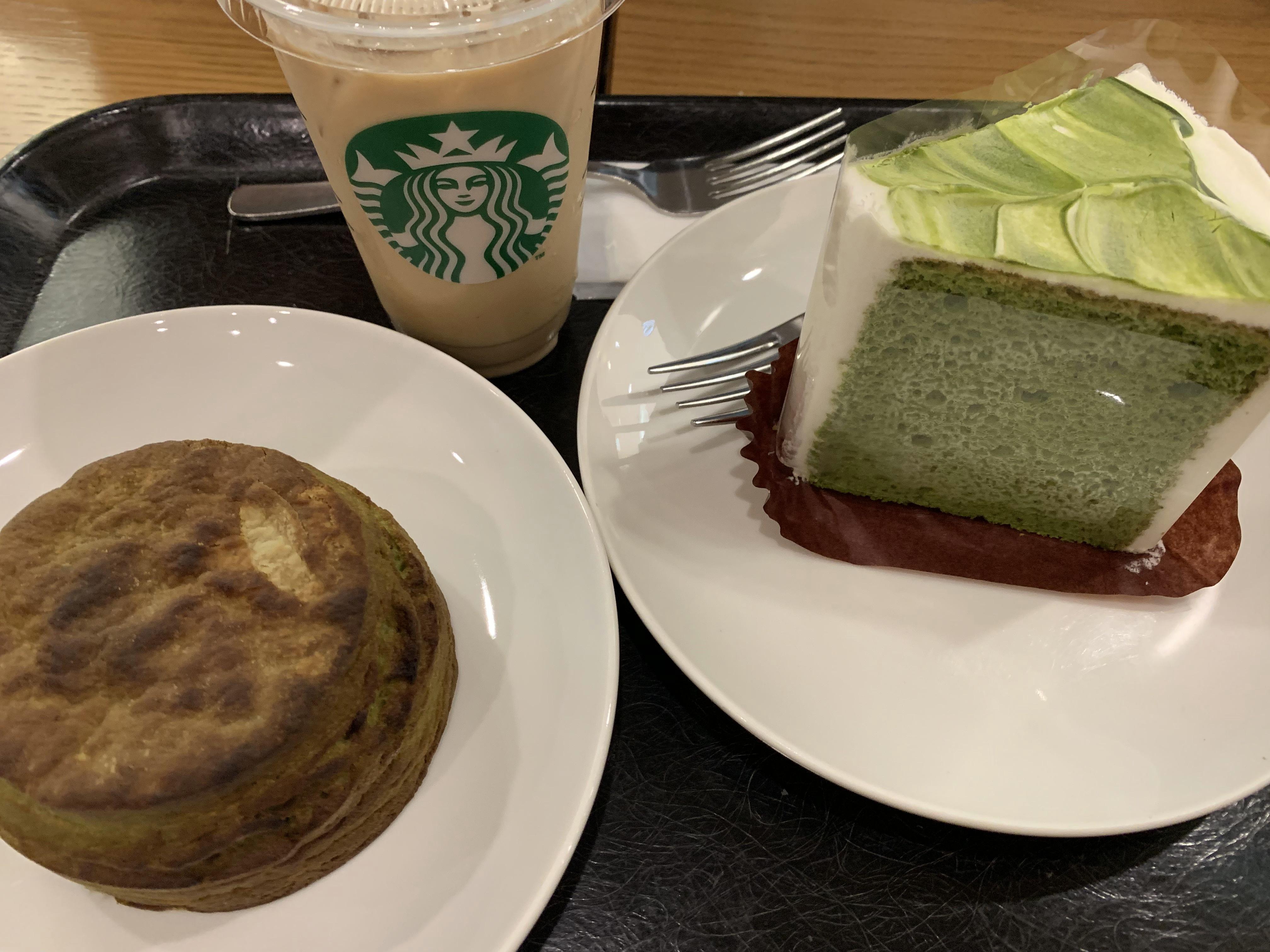 スタバの新作抹茶シフォンケーキ&宇治抹茶ビスケットは美味しい?感想レビュー