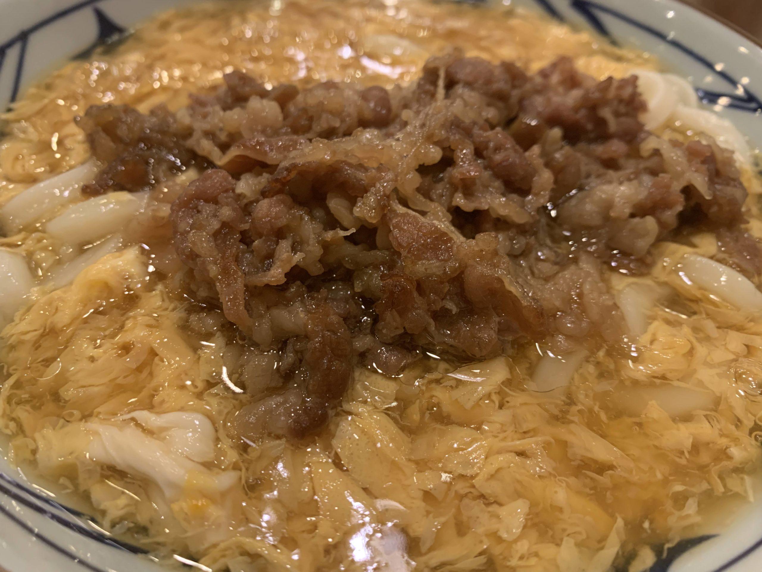 丸亀製麺肉玉あんかけ食べてみた・値段や美味しかったのか実食レビュー