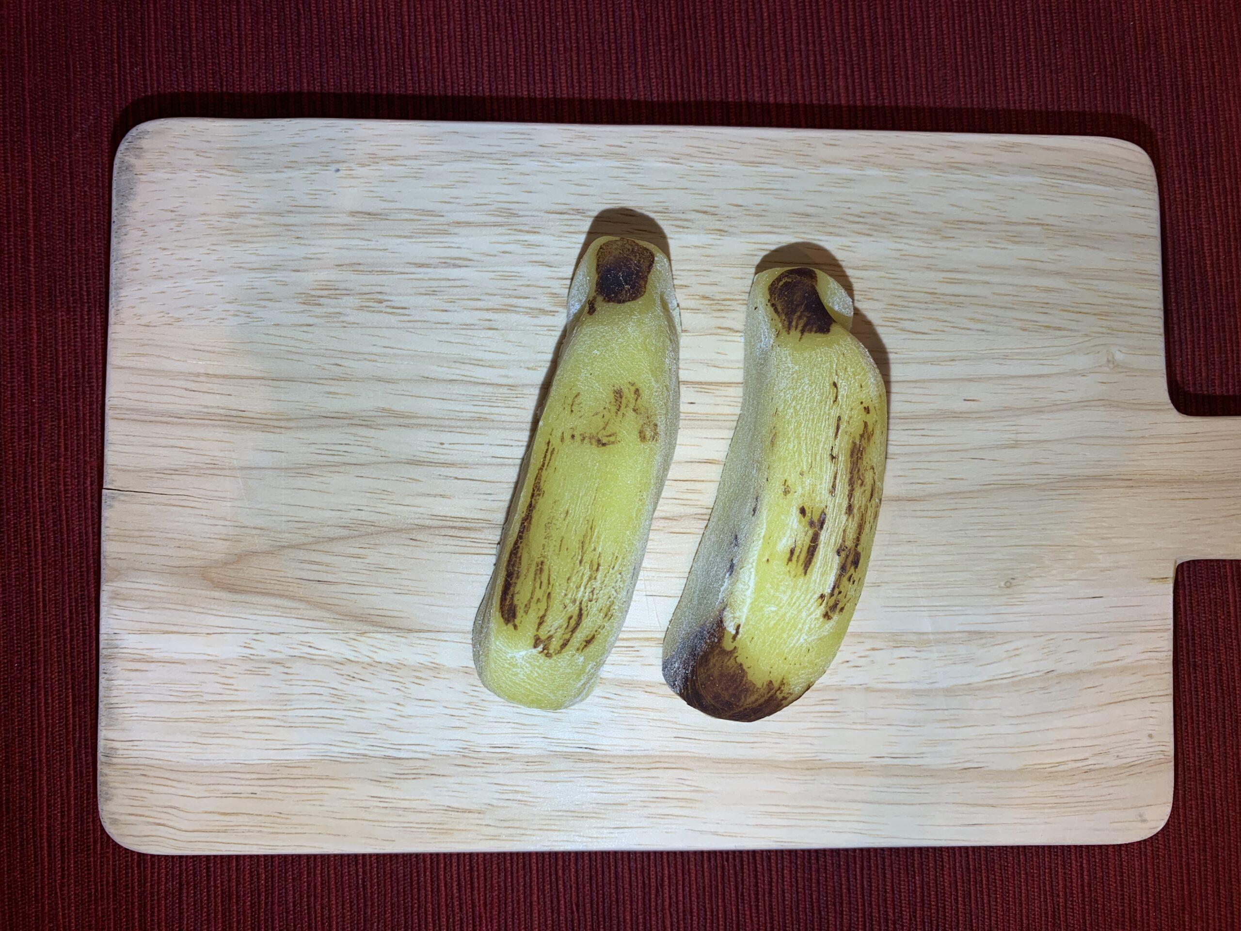 柿安口福堂のバナナ大福/ミルク&生チョコ食べ比べ:柿次郎